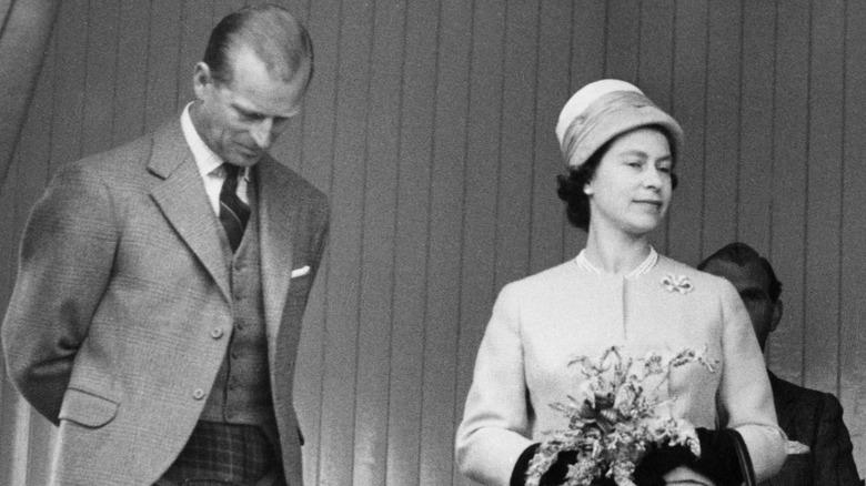 Prince Philip and then-Princess Elizabeth