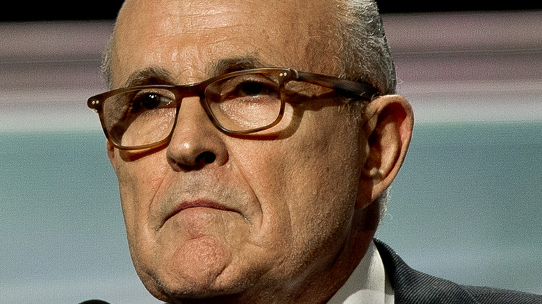 Rudy Giuliani looking serious