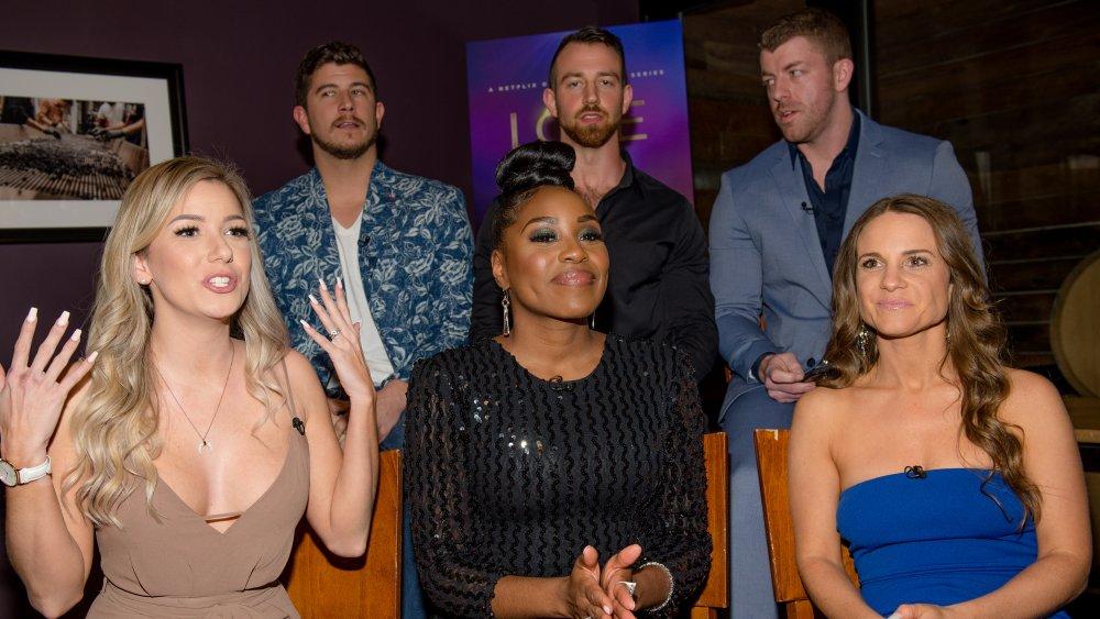 Lauren, Cameron, Amber, Barnett, Damian, Kelly from Love is Blind