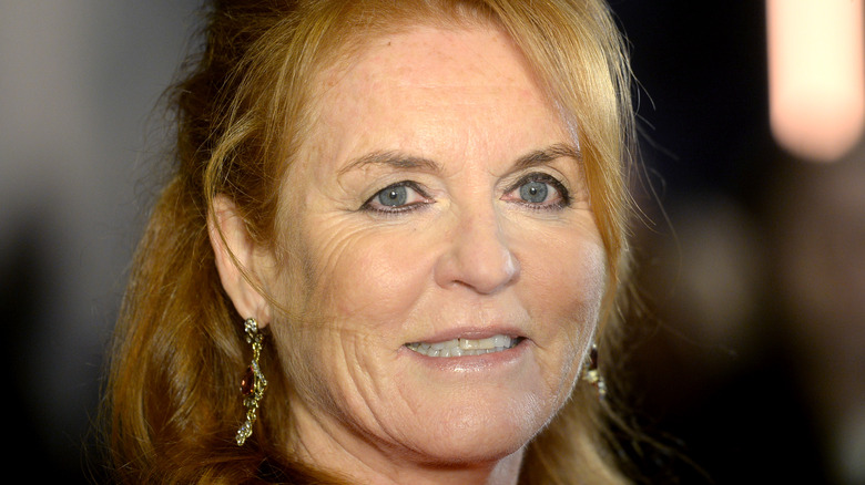 Sarah Ferguson smiling at an event in London.