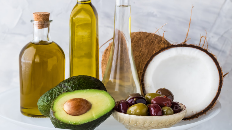 Various types of oils