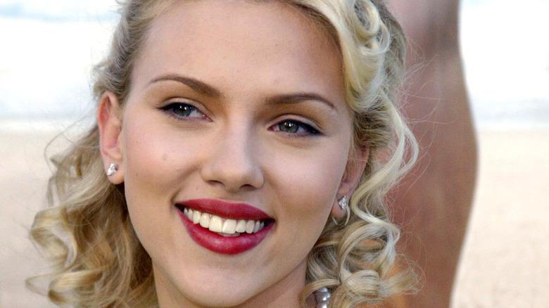 Scarlet Johansson smiling