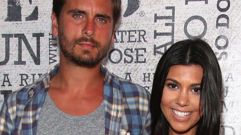 Scott Disick and Kourtney Kardashian pose together