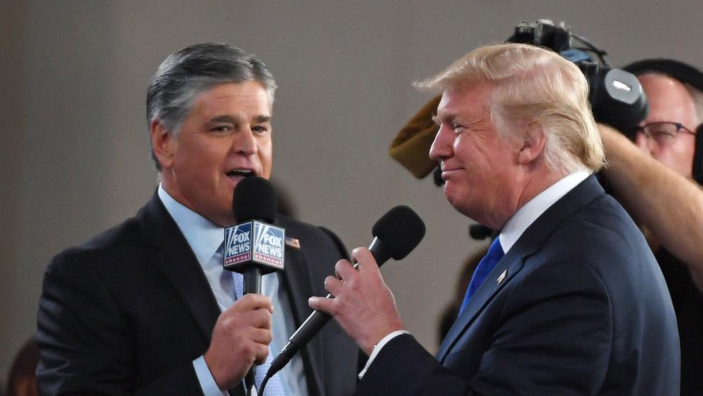 Sean Hannity and President Trump