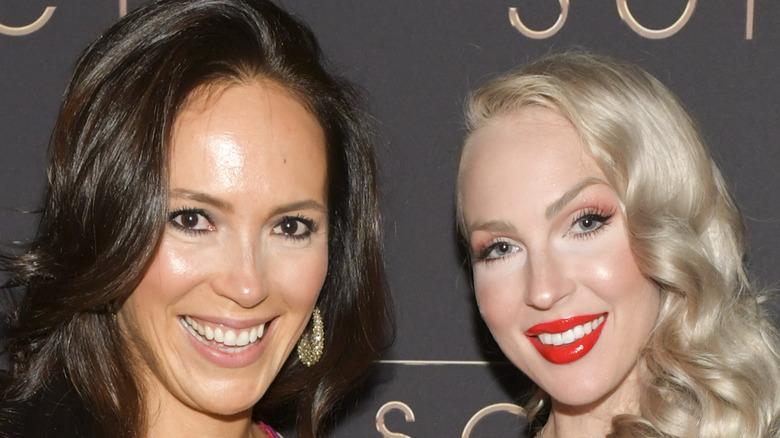 Selling Sunset stars Davina Potraz and Christine Quinn attend an event