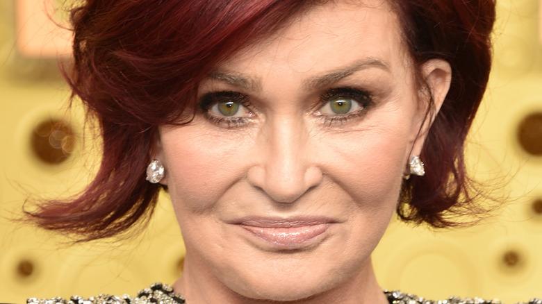 Sharon Osbourne with diamond earrings