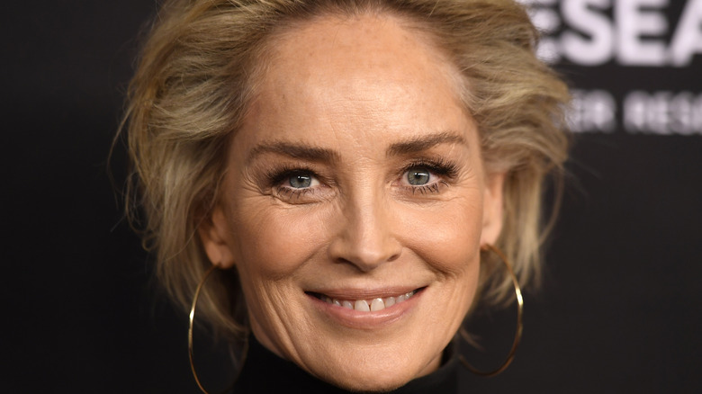 Sharon Stone on the red carpet