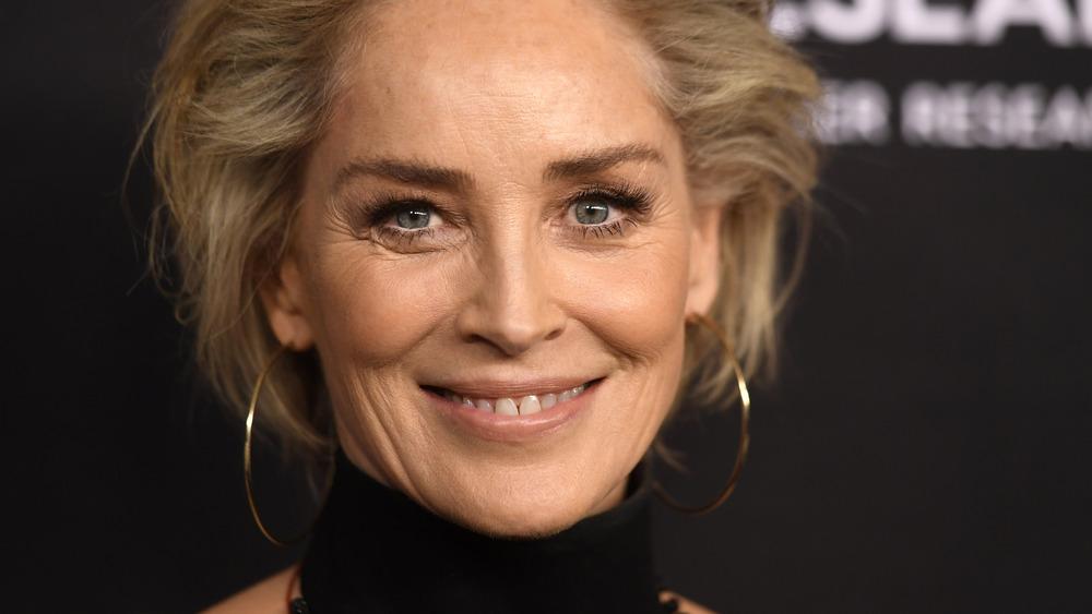 Sharon Stone, natural makeup look