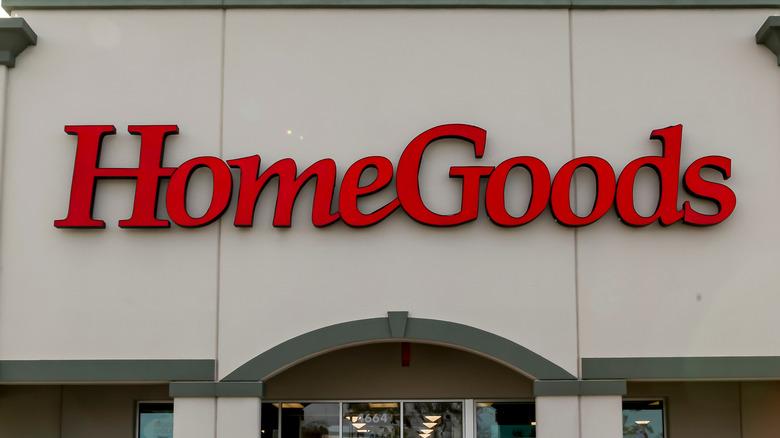 A HomeGoods storefront