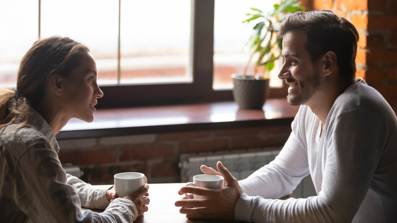 First Date Conversation over coffee