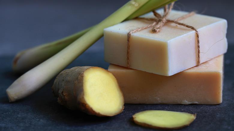 Ginger and tumeric bar soap