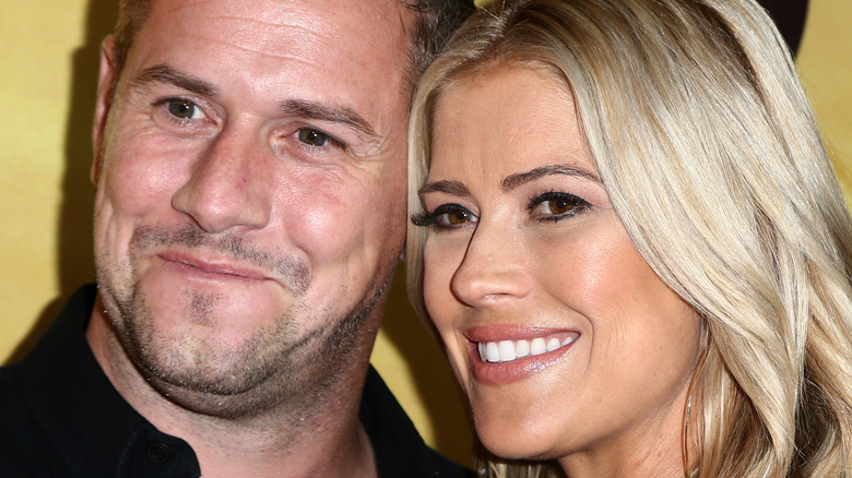 Ant Anstead and Christina Haack smiling