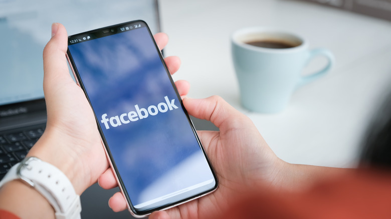 Facebook on a mobile phone