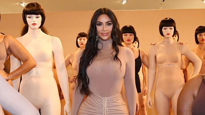 Kim Kardashian and Skims models