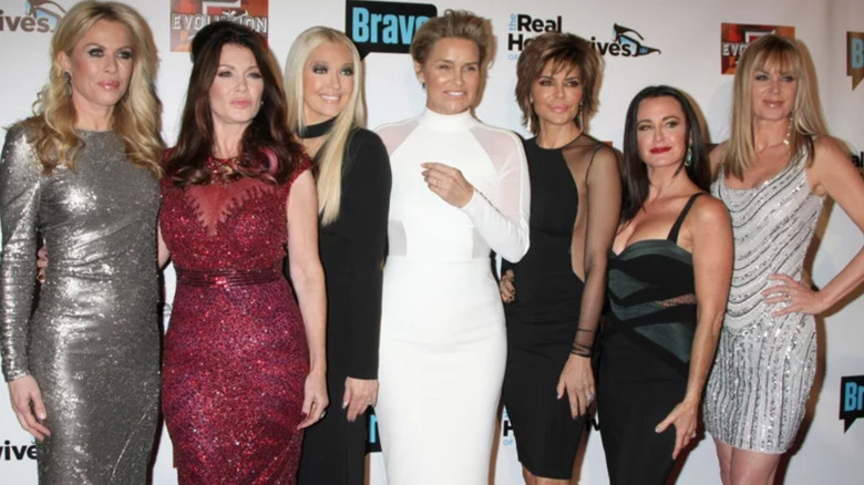 The cast of The Real Housewives of Beverly Hills on the red carpet