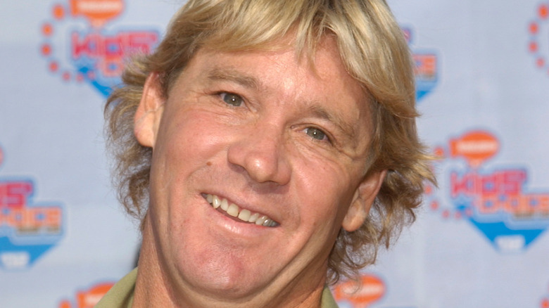 Steve Irwin smiles at an event