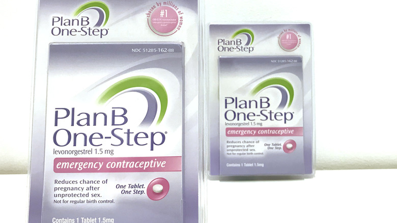 Plan B packaging on a white background.