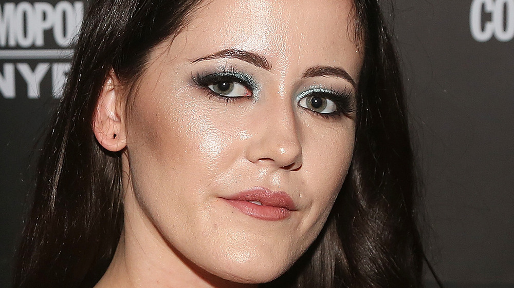 Jenelle Evans with blue eyeshadow