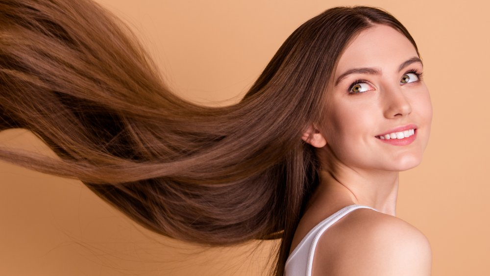 Girl long ugly hair with 13 Women