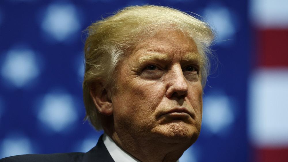 Donald Trump frowning