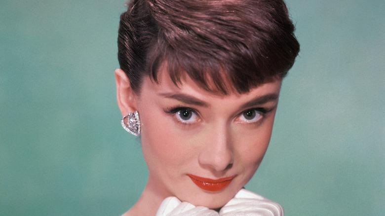 Audrey Hepburn posing