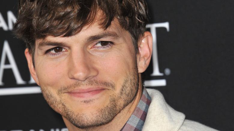 Ashton Kutcher smiling