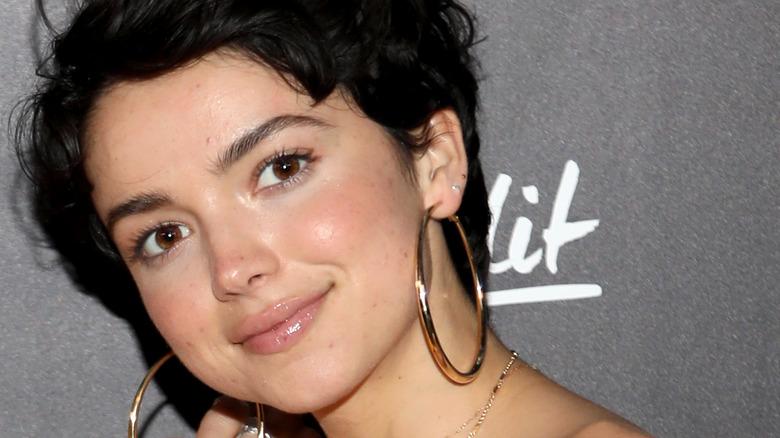 Bekah Martinez wearing hoop earrings