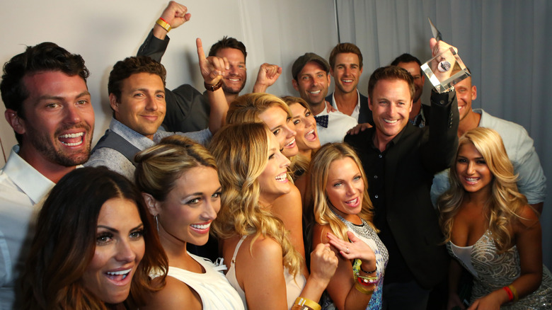 The Bachelor cast with award