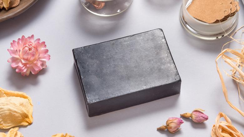 Black soap bar