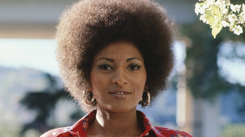 Pam Grier with natural afro