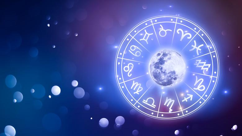 Zodiac signs glowing art
