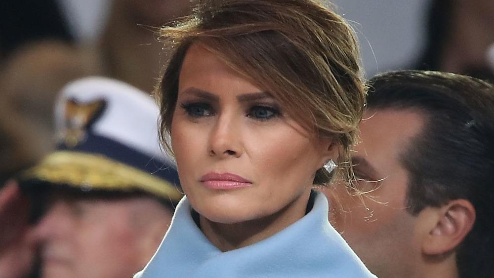 Melania Trump frowning