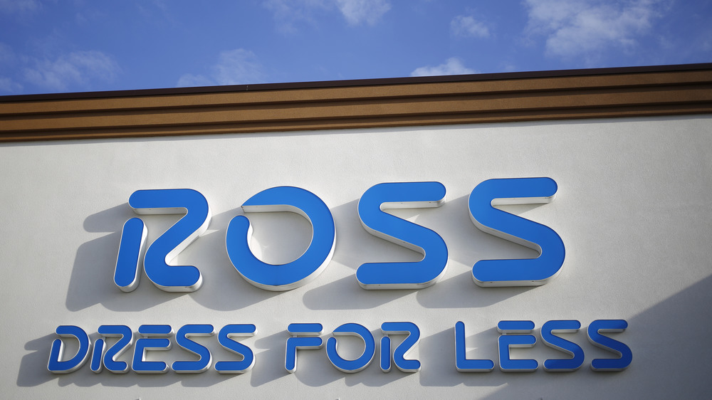 Outside façade of retail store Ross