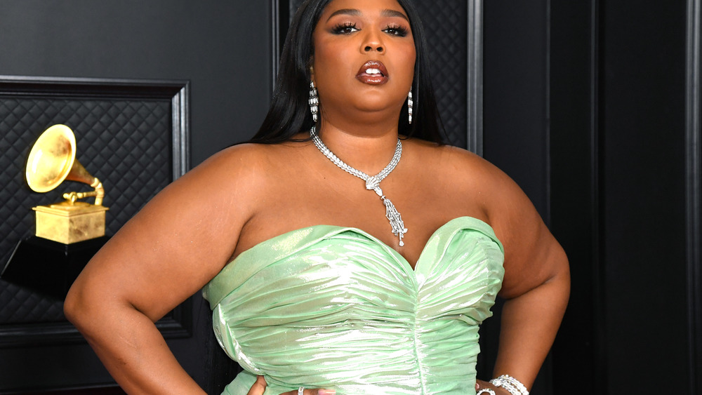Lizzo at the 2021 Grammys