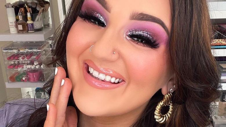 Makeup artist Mikayla Nogueira