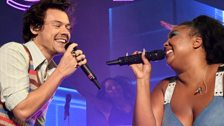 Lizzo and Harry Styles at Grammy Awards