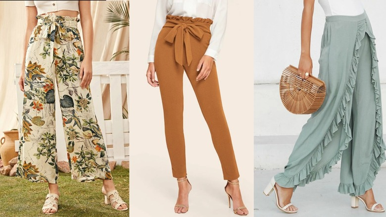 Three different SHEIN best-selling pants