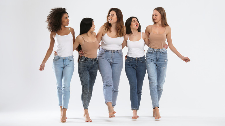 women with different body shapes