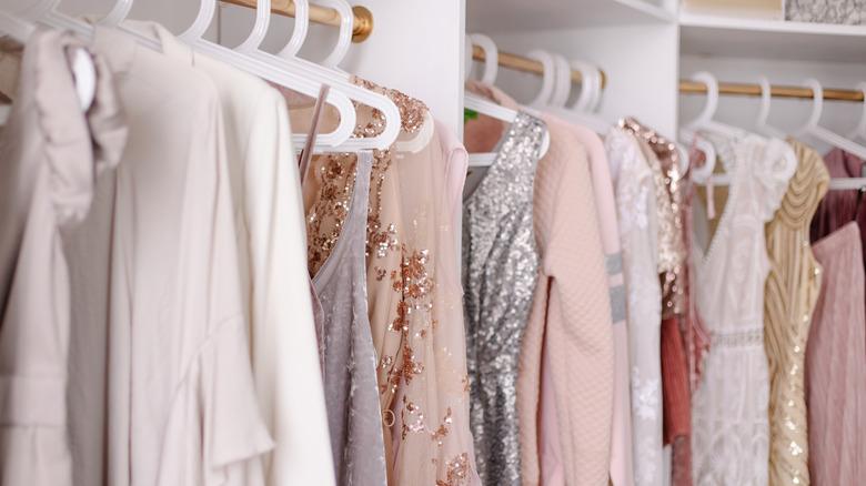 dresses shopping sequins pastel