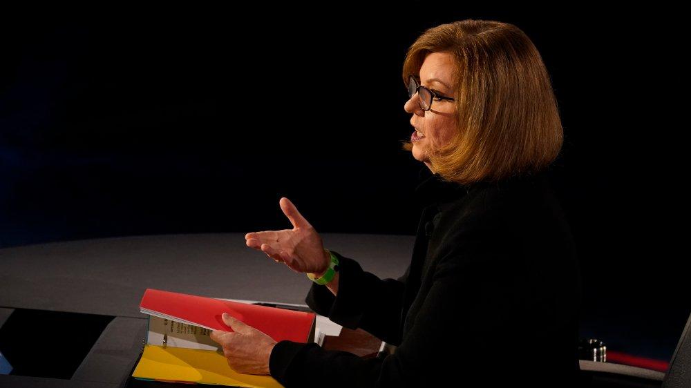 Susan Page at the VP debates