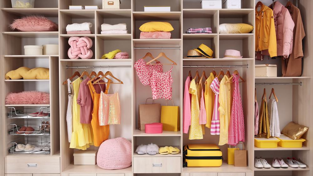 photo of a highly organized closet