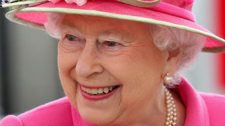 Queen Elizabeth II smiling close-up