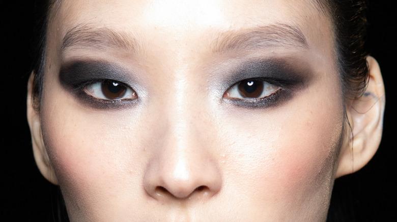smokey eye makeup on a model