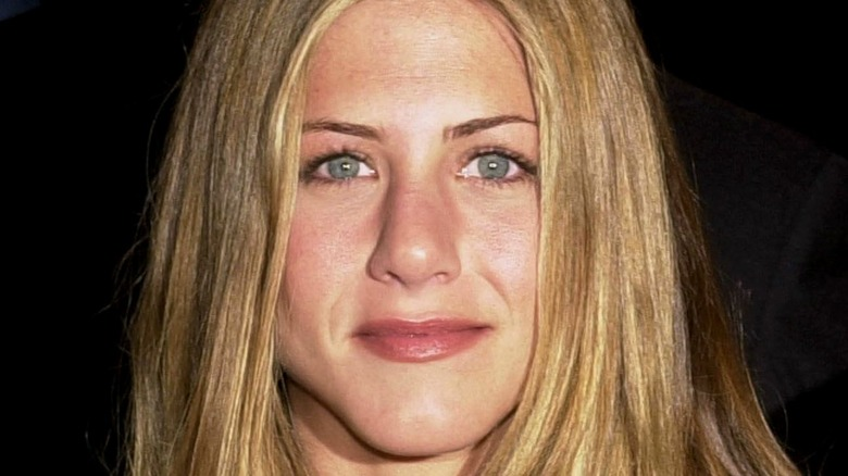 Jennifer Aniston with long hair in 2020