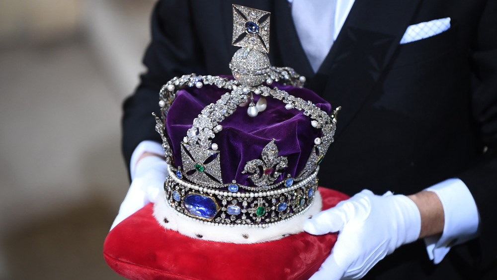 The Crown Jewels being carried