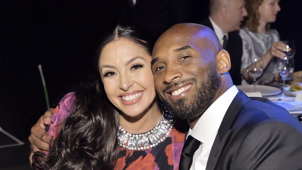 Vanessa Bryant and Kobe Bryant smiling
