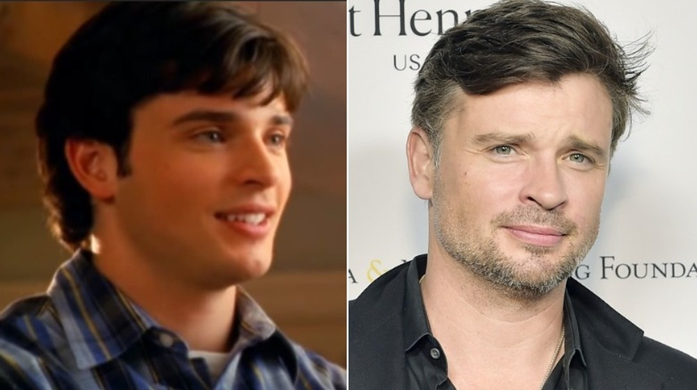 Tom Welling then and now, split image