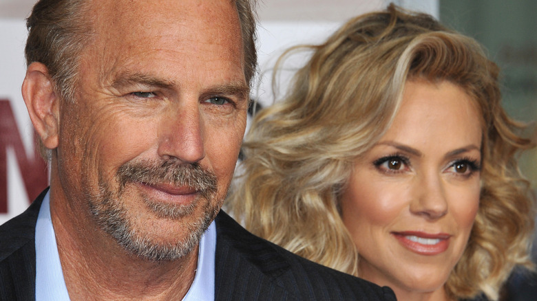 Kevin Costner, wife out and about