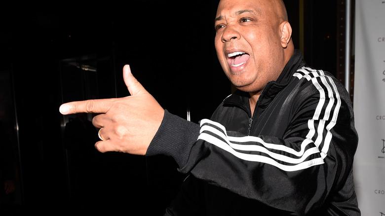 Rev. Run wearing Adidas tracksuit