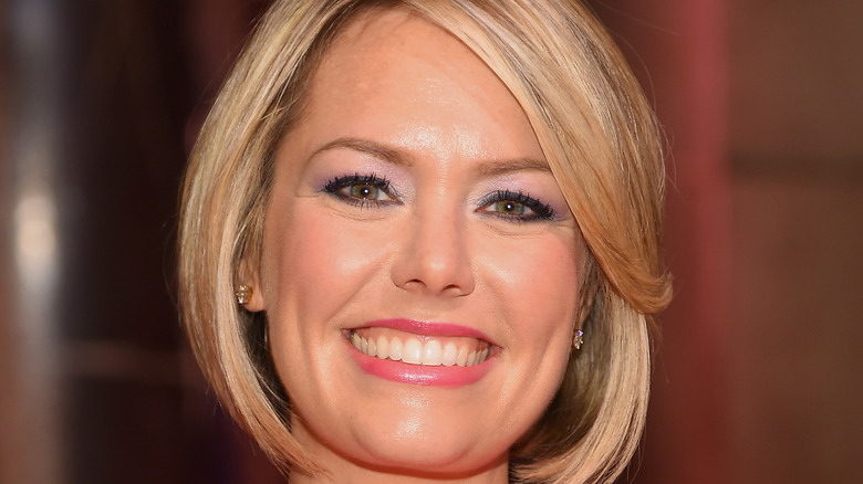Dylan Dreyer wearing a pink dress on the red carpet